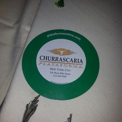 Photo taken at Churrascaria Plataforma by Andrew L. on 6/9/2013