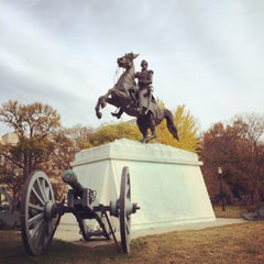 Photo taken at Andrew Jackson Statue by Maxim B. on 11/23/2013