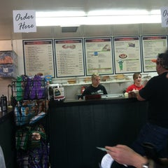 Photo taken at Mr. Pickles Sandwich Shop by Heather on 1/25/2013