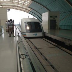 Photo taken at 磁悬浮龙阳路站 Maglev Train Longyang Road Station by Di F. on 6/20/2013
