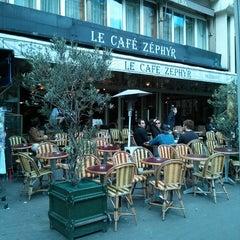Photo taken at Café Zéphyr by Angela K. on 6/2/2013