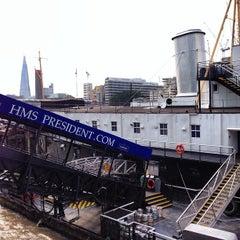 Photo taken at HMS President (1918) by Richard C. on 7/11/2013