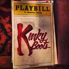 Photo taken at Kinky Boots at the Al Hirschfeld Theatre by Will O. on 4/25/2013