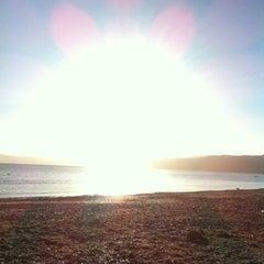 Photo taken at Petone Beach by Elishevah M. on 1/22/2013