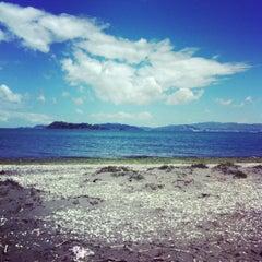 Photo taken at Petone Beach by Elishevah M. on 1/8/2013