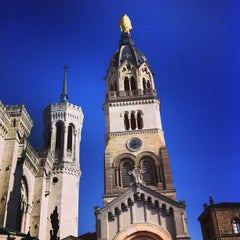 Photo taken at Basilique Notre-Dame de Fourvière by Cyril R. on 3/3/2013