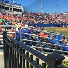 Photo taken at McKethan Stadium at Perry Field by Paige F. on 4/3/2016