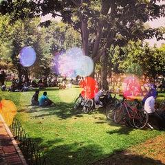 Photo taken at Parque de la 93 by Ivancho S. on 2/7/2013