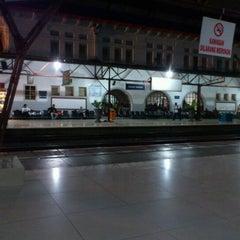 Photo taken at Stasiun Pasar Senen by Sami R. on 9/14/2012