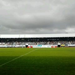 Photo taken at Estadio Multiusos de San Lázaro by Rebeca A. on 6/23/2013
