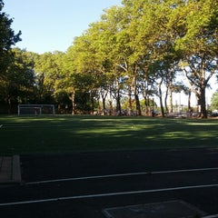 Photo taken at 101 Street Soccer Field by Mark F. on 9/4/2013