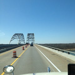Photo taken at Luther Draffen Bridge by Ryan S. on 3/26/2014