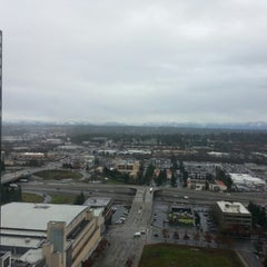 Photo taken at Microsoft/Bing HQ City Center Plaza by Deanna B. on 12/21/2012