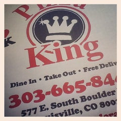 Photo taken at Pizza King by Colorado Card on 4/19/2012