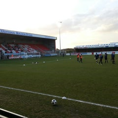Photo taken at The London Borough of Barking & Dagenham Stadium by Glen E. on 4/15/2013