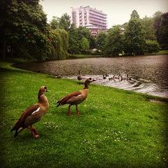 Photo taken at Parc Léopoldpark by Olivier V. on 5/29/2013