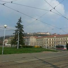 Photo taken at Mendlovo náměstí (tram, bus) by Mayo P. on 3/29/2014