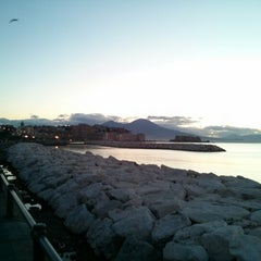 Photo taken at Lungomare di Napoli by Mario P. on 12/20/2012