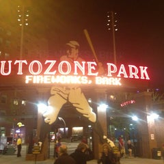Photo taken at AutoZone Park by Michael H. on 4/21/2013