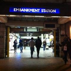 Photo taken at Embankment London Underground Station by Avi G L. on 11/11/2012