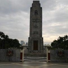 Photo taken at National Monument (Tugu Negara) by Norien S. on 1/19/2013