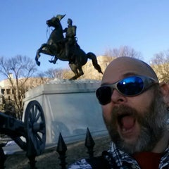 Photo taken at Andrew Jackson Statue by Chad M. on 2/18/2014