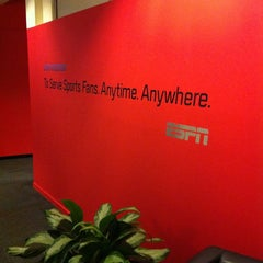 Photo taken at ESPN by Laura F. on 3/25/2014