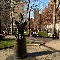 Photo taken at Rittenhouse Square by akaSpectacular on 12/18/2012