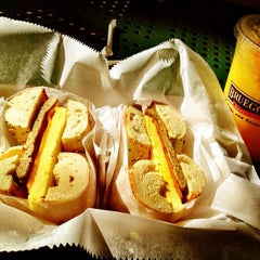 Photo taken at Bruegger's by Alexis H. on 1/19/2013