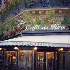 Photo taken at Café de Flore by Nikita R. on 10/22/2012