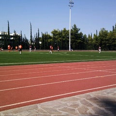 Photo taken at Soccer Field & Running Track ACG-Deree by Georgios ®. on 9/22/2012