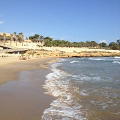 Photo taken at Platja del Miracle by Paulo Y. on 9/21/2012