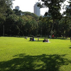 Photo taken at Parque Burle Marx by Mario L. on 4/27/2013