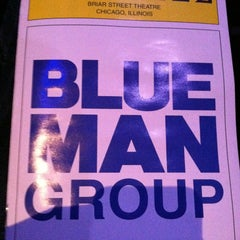 Photo taken at Blue Man Group at the Briar Street Theatre by Alexandar T. on 2/24/2013