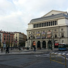 Photo taken at Plaza de Isabel II by Juan J. on 11/23/2012