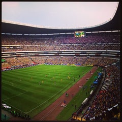 Photo taken at Estadio Azteca by Gerardo P. on 10/6/2013