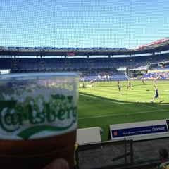 Photo taken at Brøndby Stadion by Tobias V. on 7/21/2013