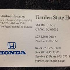 Photo taken at Garden State Honda Clifton by Tino B. on 10/26/2013