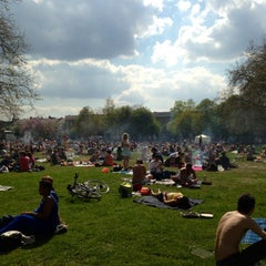 Photo taken at London Fields by Andy S. on 5/6/2013