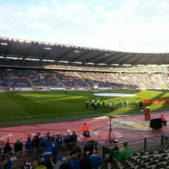 Photo taken at King Baudouin Stadium by Bart B. on 5/9/2013