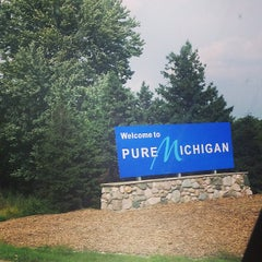 Photo taken at Michigan / Ohio State Line by Jessica V. on 9/1/2014