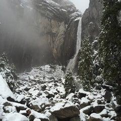 Photo taken at Lower Yosemite Falls by Ada J. on 1/7/2016