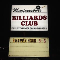 Photo taken at Murfreesboro Billiards Club by Rich H. on 5/31/2014