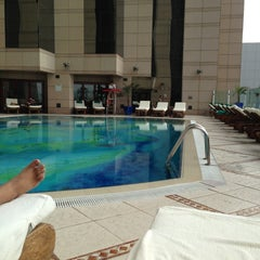 Photo taken at Fairmont Dubai by Eb A. on 5/2/2013