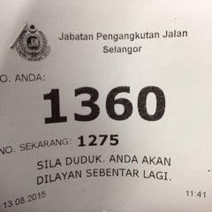 Photo taken at Jabatan Pengangkutan Jalan (JPJ) by Khalid N. on 8/13/2015