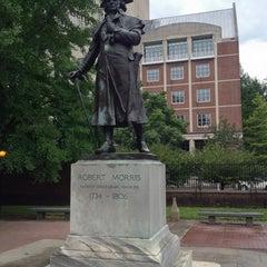 Photo taken at Robert Morris Statue by Ian B. on 8/3/2013