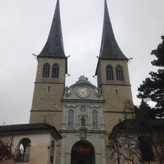 Photo taken at Hofkirche by anGel C. on 12/5/2014