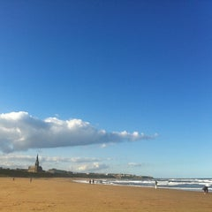 Photo taken at Cullercoats Beach by Matt H. on 9/14/2013