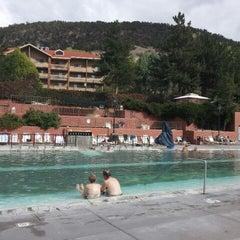 Photo taken at Glenwood Hot Springs by Angela H. on 9/27/2012