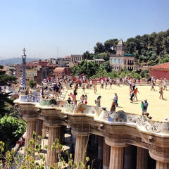 Photo taken at Park Güell by Xavi L. on 7/5/2013